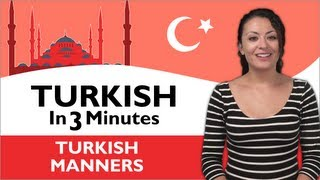 Learn Turkish - Turkish in Three Minutes - Thank You & You