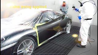 Repair & Paint process on this Ferrari F430 The Bodycentre Ltd Norwich