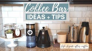 Home Coffee Bar Ideas + Tips