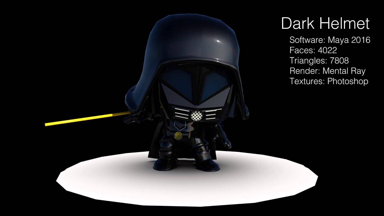 dark helmet 3d model by sean nakamura youtube