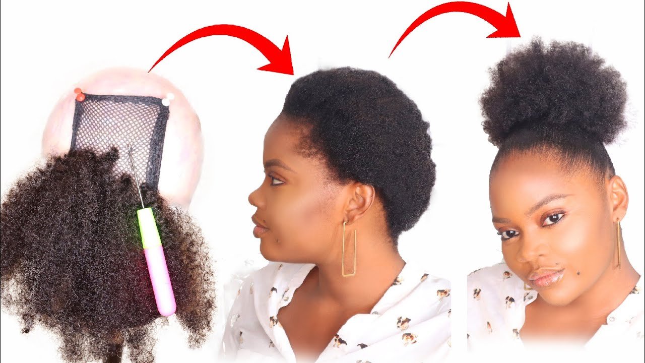 Diy Natural Hair Pony Tail Wig Using Expression Ceres Natural Hairstyle Tutorial Youtube Hair Tutorial Natural Hair Diy Diy Ponytail