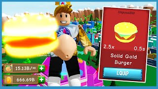I Unlocked Impossible Gold Burger and Became The Biggest Player!   Roblox Munching Masters