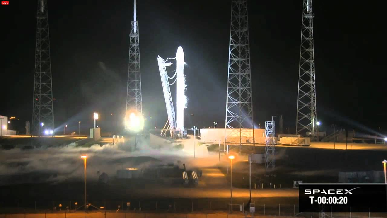 spacex falcon 9 dragon launch crs 1 10 7 2012 spacex webcast version hd