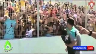 Cristiano Ronaldo meets a crazy Girl