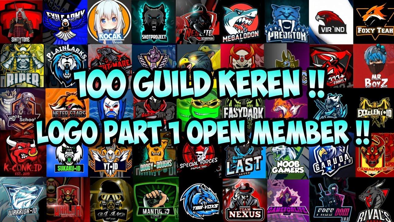 100 Nama Dan Logo Guild Ff Keren Yang Pernah Open Member Di Channel Radenwardana54 Garena Free Fire Youtube