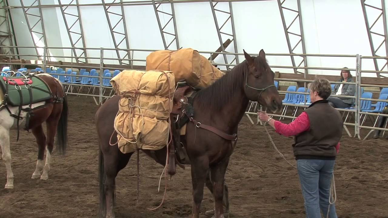 How To Pack A Back Country Horse Youtube