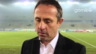 Robert Warzycha po meczu z Legią Warszawa (05.12.2014)