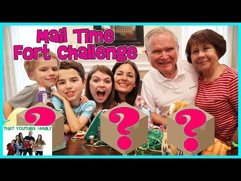 Mail Time Fort Challenge / That YouTub3 Family
