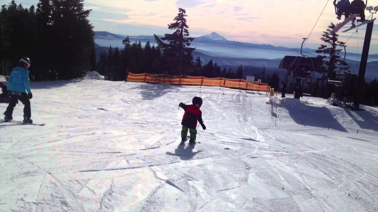 bruno lift chair bungee canada reese s skiing debut youtube