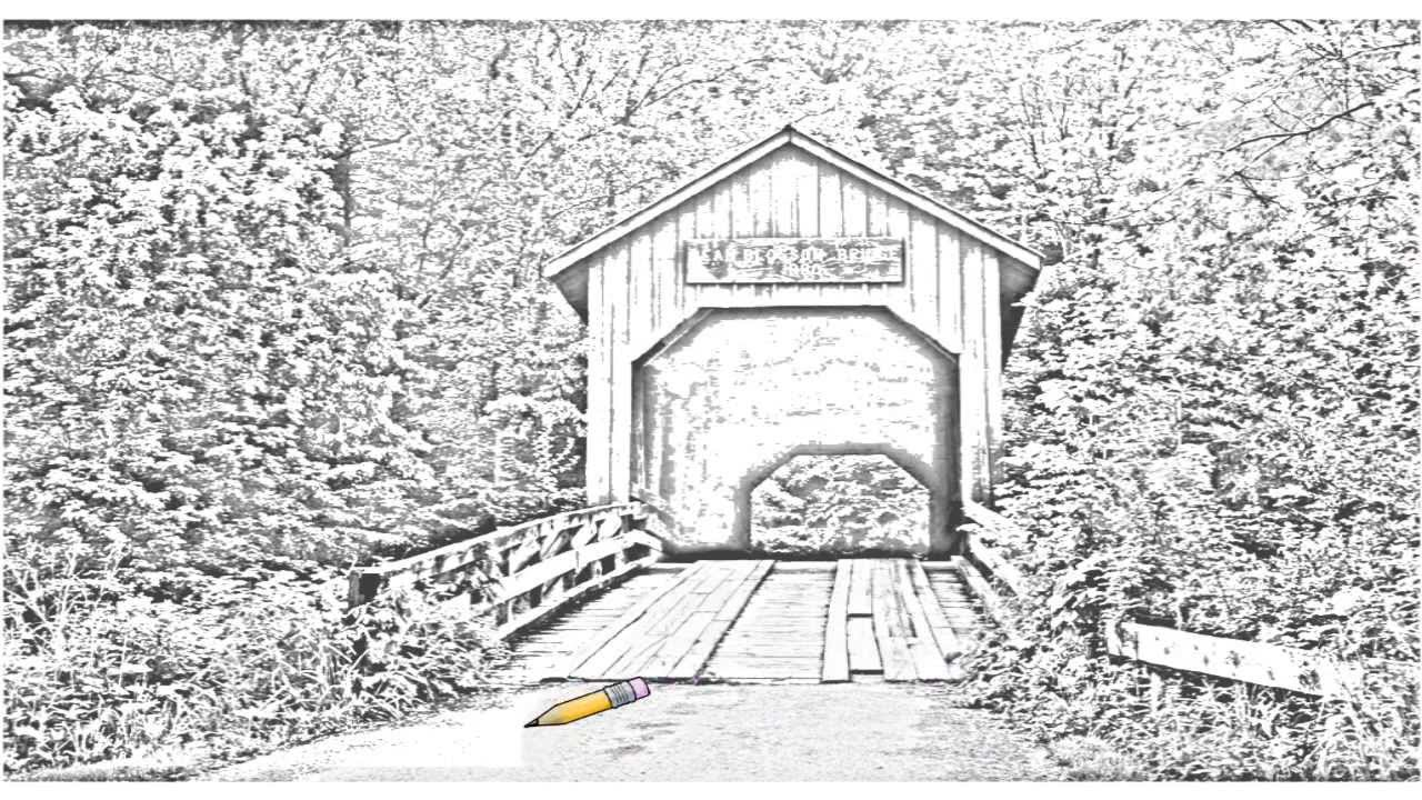Auto Draw 2 Covered Bridge Bean Blossom Indiana Youtube