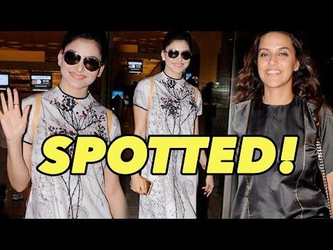 Urvashi Rautela, Neha Dhupia And Others Spotted At Mumbai Airport