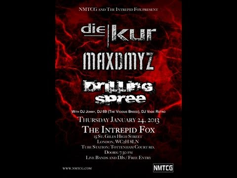 Live at The Intrepid Fox 2013 with Die Kur, Maxdmyz, Drilling Spree