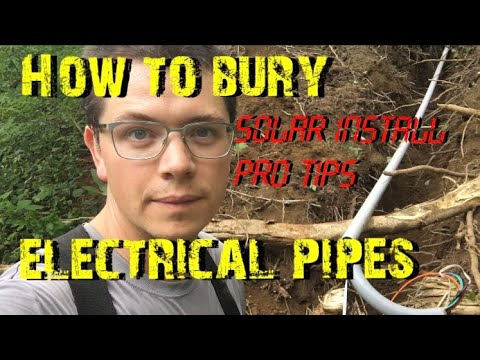 How to Bury Electrical Conduits