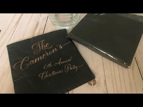 Personalized napkins | Make it with Cricut | Tam's Sweet Life
