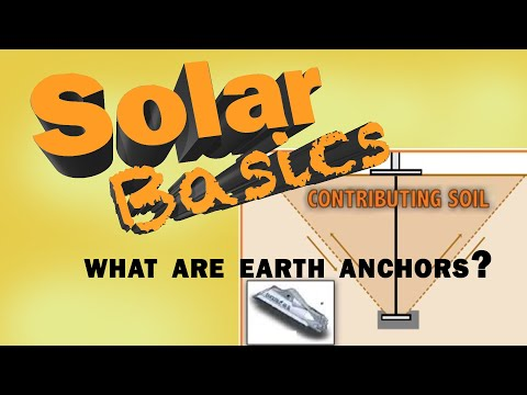 How are earth anchors used in solar?