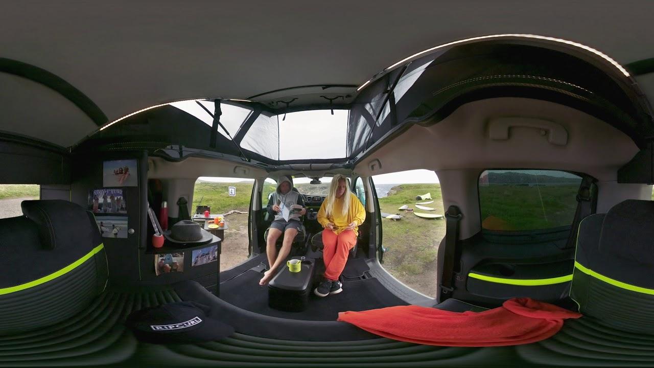 citro n spacetourer rip curl concept interior en 360 youtube. Black Bedroom Furniture Sets. Home Design Ideas