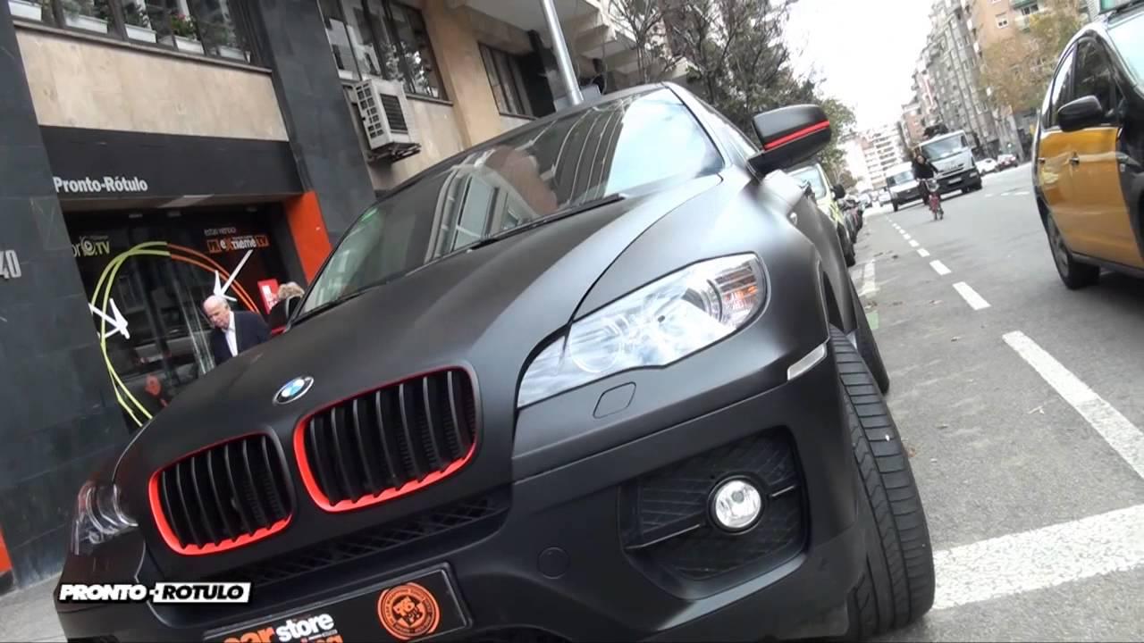 Te Imaginas Un Bmw X6 En Negro Mate Car Wrapping By Pronto Rotulo Since 1993 Youtube