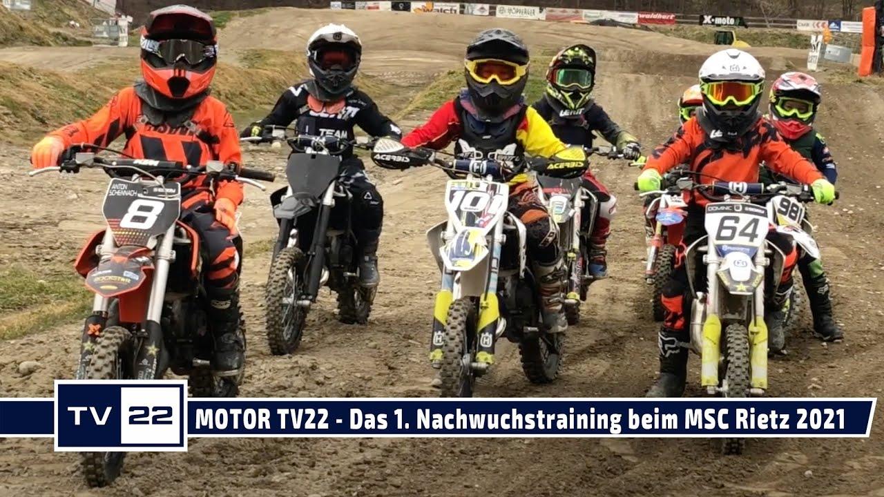 MOTOR TV22: Auftakt zum Nachwuchstraining im Motocross beim MSC Rietz im Jahr 2021