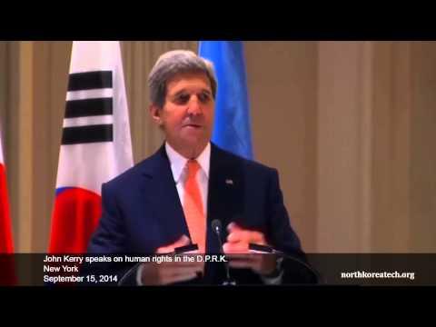 John Kerry speaks on human rights in North Korea
