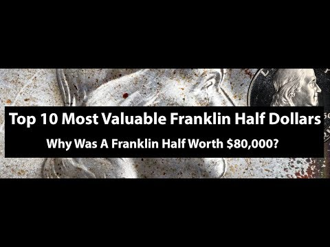Top 10 Most Valuable Franklin Half Dollars - Proofs And Mint State Franklin Halves