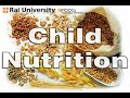 Introduction to Child Nutrition