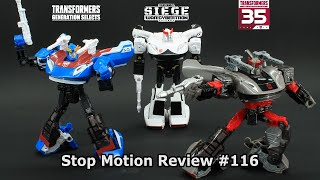 Stop Motion Review 116 - Siege Prowl, Gen Selects Smokescreen and 35th Anniversary Bluestreak
