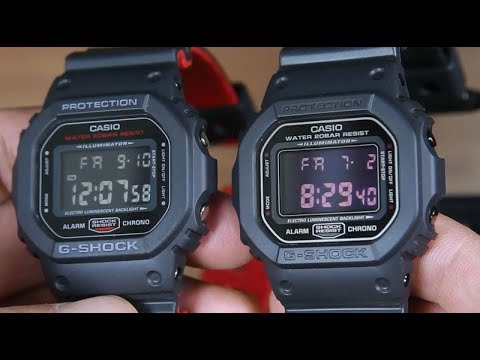 Casio G Shock Dw 5600hr 1 Vs G Shock Dw 5600ms 1 Youtube