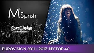 Eurovision Song Contest 2011-2017. My top 40 best songs