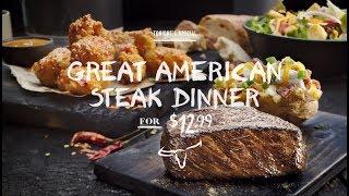 LongHorn Steakhouse - Great American Steak Dinner for $12.99 (30sec)