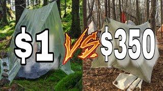 $1 Tarp Shelter vs $350 Tarp Shelter