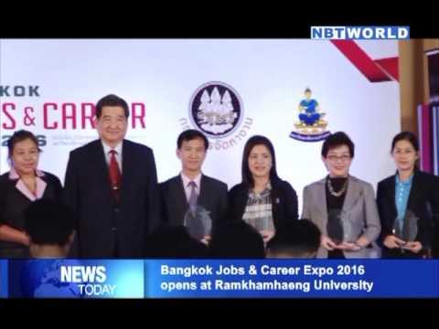 Bangkok Jobs & Career Expo 2016 opens at Ramkhamhaeng University