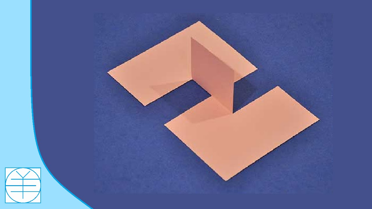 optical paper illusion illusions impossible flap magic cut tricks folded simple puzzles challenge trick piece brain games instructions rectangle eye