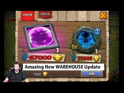 BIG News SAVE YOUR MERITS Free 2 Play NEW Warehouse ITEMS Castle Clash