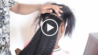 How to Install Clip Ins on Relaxed and Natural Hair Knappy Hair Extensions