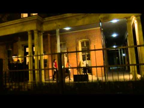 Nighttime Outside the Haunted Jane Addams Hull House in Chicago