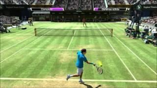 Virtua Tennis 4 Gameplay - Roger Federer vs Rafael Nadal HD (PC)