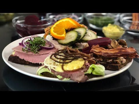 How to make OPEN FACE SANDWICH Recipes Danish SMØRREBRØD recipes