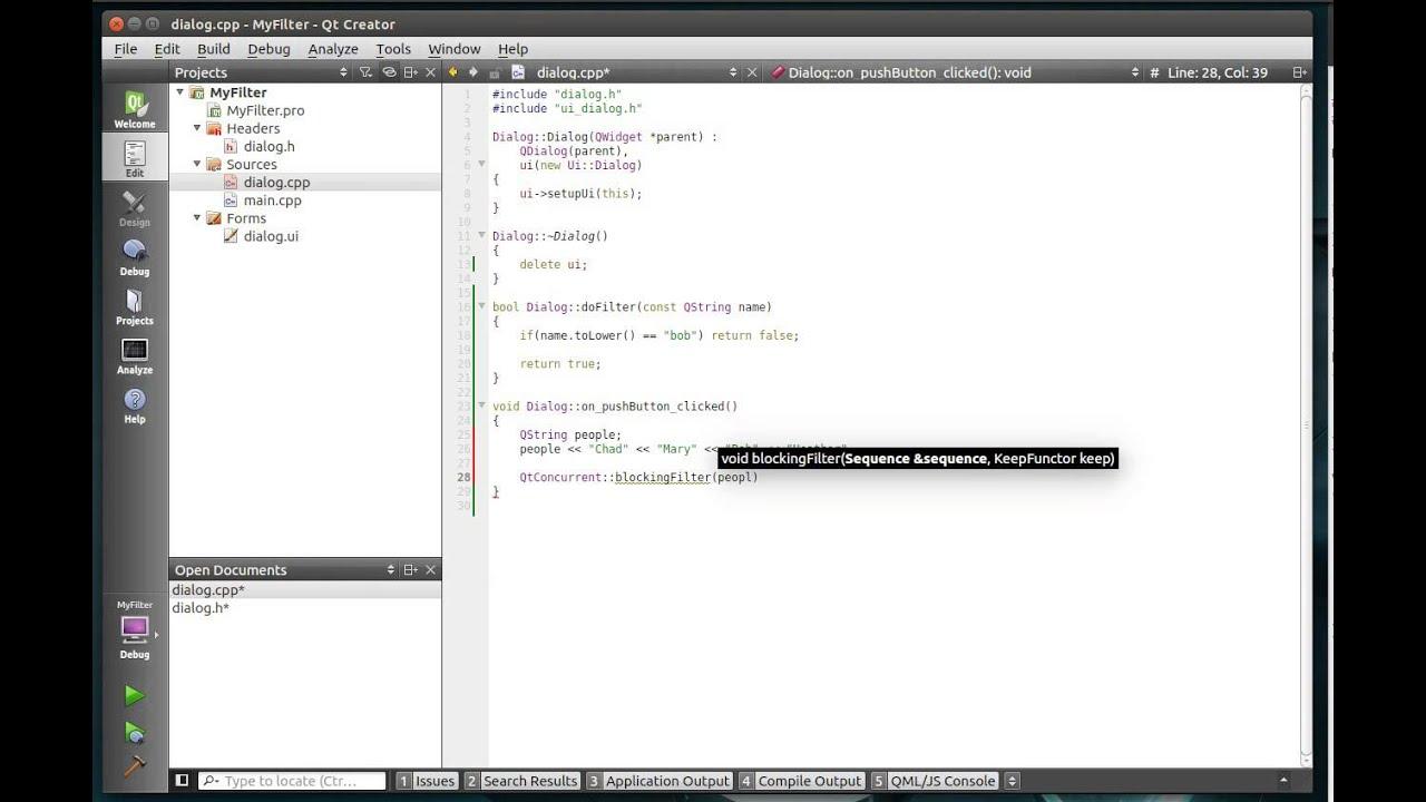 C++ Qt 125 - QtConcurrent Filter