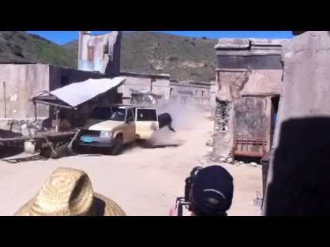 Eric Linden  Diving out of a moving car stunt