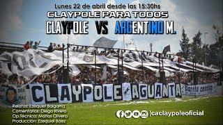 Claypole Vs ArgentinoMerlo  Fecha 27  Primera D 201819