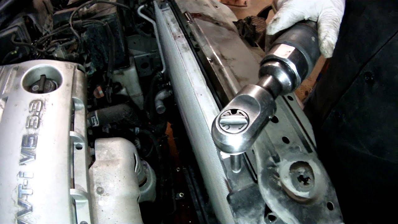 medium resolution of lexus rx 330 radiator replace