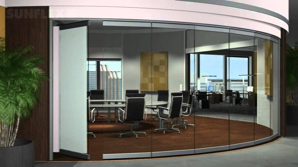 Cerramiento o cortinal de cristal sunflex oficinas youtube for Cerramientos para oficinas