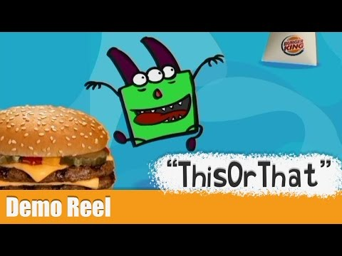 """Burger King -  """"ThisOrThat"""" - Character Animation Demo Clip"""