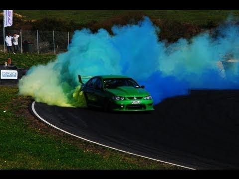 Ford Falcon V8 Skid Demo - RATTLA - D1NZ Grand Final, Hampton Downs ...