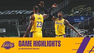 HIGHLIGHTS   Los Angeles Lakers Vs Milwaukee Bucks