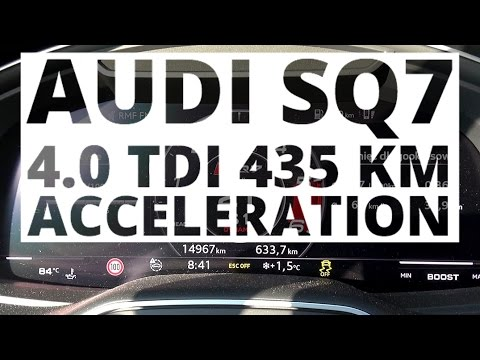 Audi SQ7 4.0 TDI 435 hp (AT) - acceleration 0-100 km/h