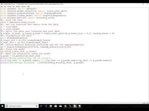 Building Logistic Regression model using Scikit-learn for Iris dataset