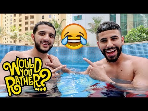 HILARIOUS WOULD YOU RATHER CHALLENGE!! **IN JACUZZI**