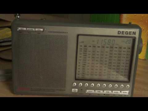 Radio Berlin International spanish via WRMI 11580 Khz Shortwave