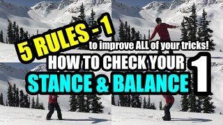 如何检查滑雪板上的姿势和平衡